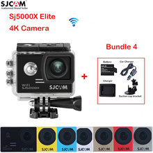 SJCAM SJ5000X Elite WiFi 2'0 Screen 4k 30M Waterproof Sports Action Camera Car DVR +A Battery+Charger+ Car Charger+Suction Cup