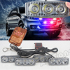 Police Beacon Emergency Warning Strobe Light 36W Wireless Remote 4x3 Led Ambulance Police Light DC12V Changecolor