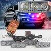 Police Beacon Emergency Warning Strobe Light 36W Wireless Remote 4x3 Led Ambulance Police Light DC12V Changecolor