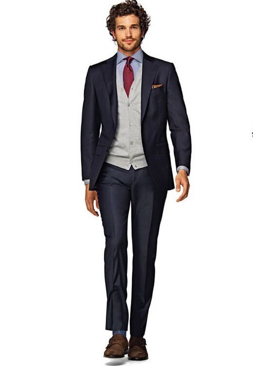 Assez Sur mesure costume gentleman habit homme tissus italiens slim  NW02