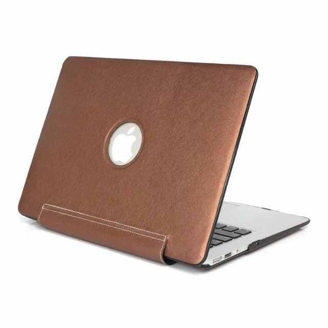 Pour Apple Macbook Air Pro Retina 11 12 13 15 pouces avec barre tactile élégante peau de soie PU cuir étui rigide