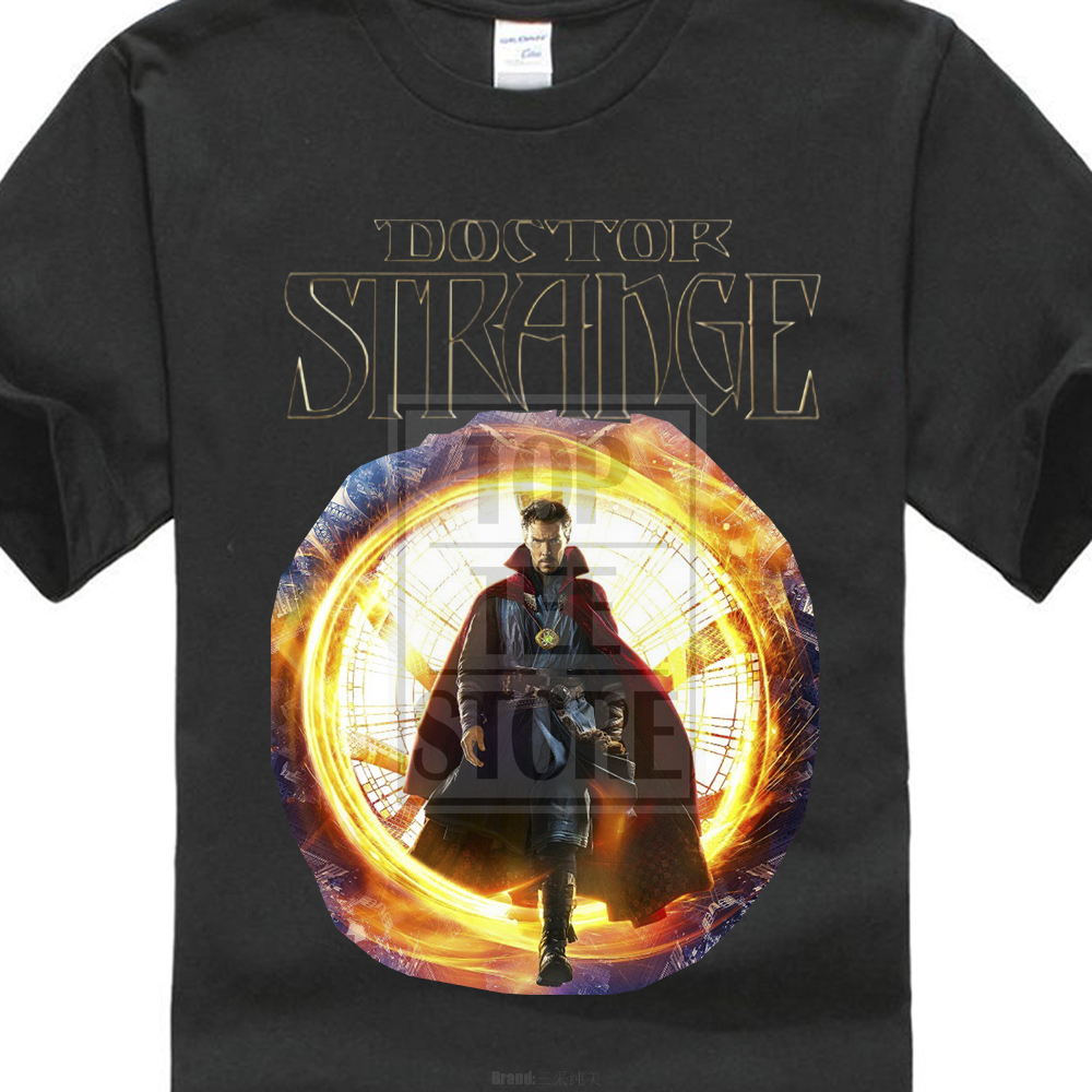 ea116f3ad7 A legújabb stílus New Dr.Strange Marvel Super Hero nyomtatott póló ...