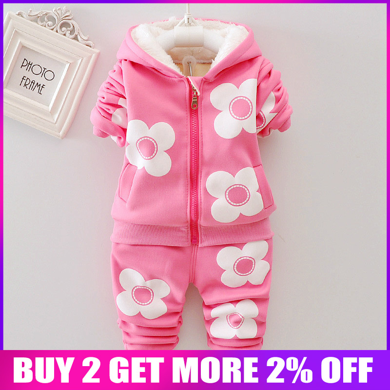 434aa2f929752 BibiCola Girls Clothing Sets Autumn Kids Girls Thick Warm Clothes Suit  Children Velvet Tracksuit for Baby