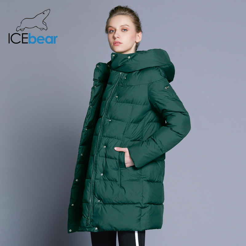 ICEbear 2018 offre spéciale Hiver Femmes Manteaux Bas Épaississement Veste Et Manteau Pour Les Femmes qualité supérieure Parka Cinq Couleurs 16G6128D