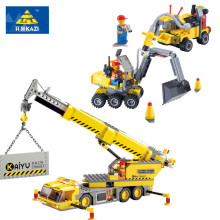 KAZI City Series Building Block Blok Toy Digger Excavator Crane Bricks 3D Construction Educational Toys for Children