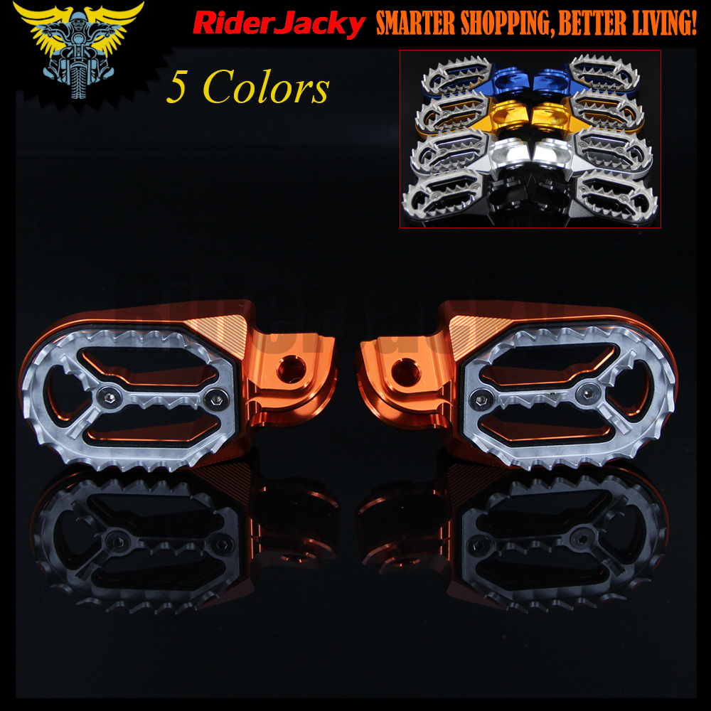 Repose-pieds de moto Orange en aluminium CNC repose-pieds repose-pieds chevilles pédales pour KTM 950/990 SM/R/T 2005-Up 2010 2011 2012 2013 2014