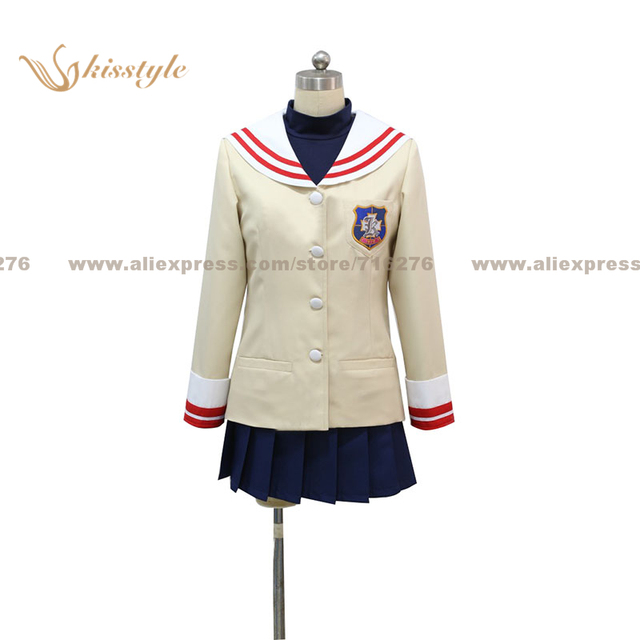 Kisstyle moda clannad NAGISA Furukawa uniforme cos ropa Cosplay traje 52a2e03e7e68