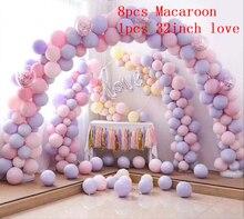 9pcs Macaroon Balloons Love Foil Balloon DIY Home Birthday Party Decorations Wedding Supplies