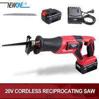 NEWONE Electric Saw 20V Portable Charging Reciprocating Saw Cordless Saber Saw for Wood and Metal Multifunction Electric Saw