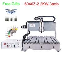 2.2 kw cnc 라우터 기계 3 축 cnc 밀링 머신 600*400mm 작업 영역