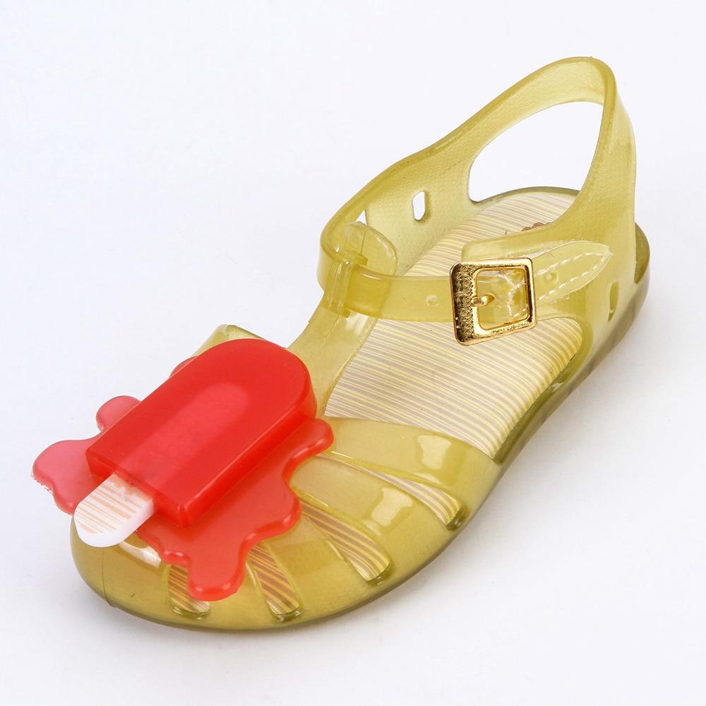 2018 Mini Melissa Aranha VIII BB Slingback Sandal Ice-lolly Style Girls Sandals Soft PVC Hook Loop Girls Shoes Summer 14-19cm