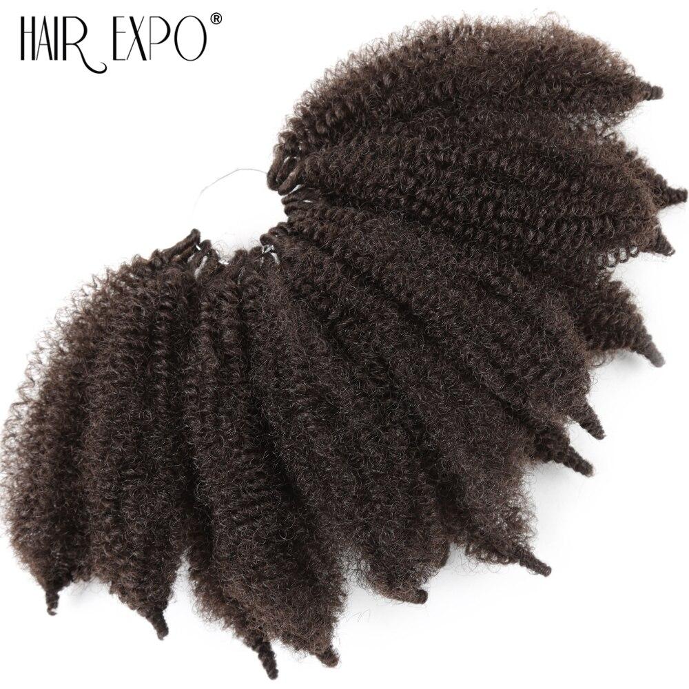 Expo Cidade do cabelo Afro Massa Bizarro Crochet Torção Torção Senegalês Trança Extensão Do Cabelo Sintético Hairpiece Falso Para As Mulheres
