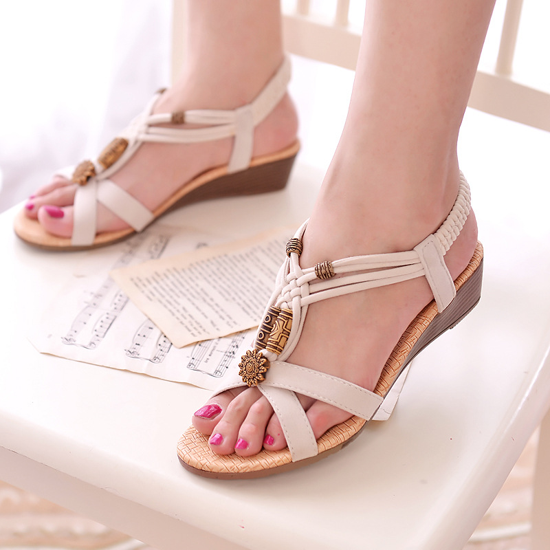 5bf4f305b Women sandals comfort sandals summer shoes woman retro flip flops ladies  shoes 2018 fashion wedge sandals women shoes-in Middle Heels from Shoes on  ...