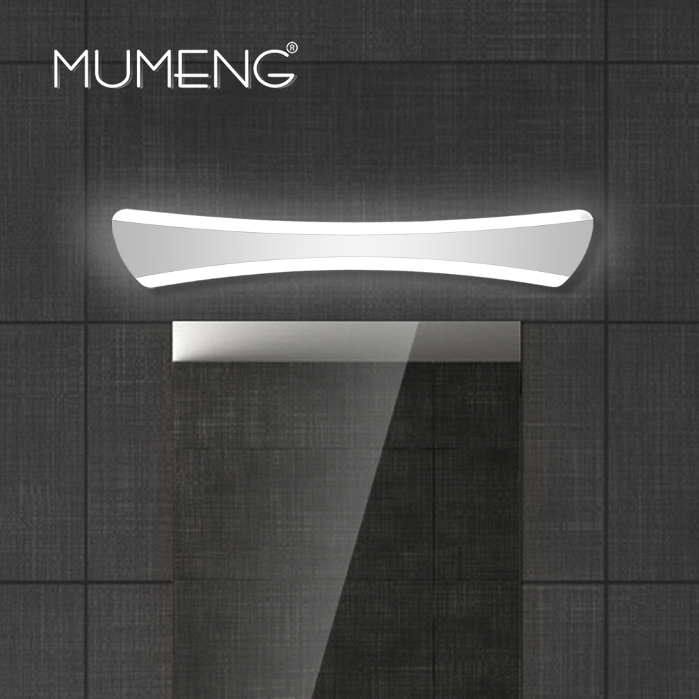MUMENG Modern LED Mirror Lightswall Lamp Bathroom Bedroom Headboard 15W Acryl Wall Sconce AC85-265V Wall Mounted Beside Light