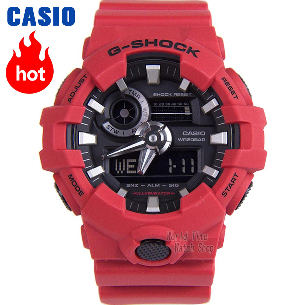 Casio watch G-SHOCK Men's Quartz Sports Watch Cool Comfortable Resin Strap Waterproof g shock Watch GA-700