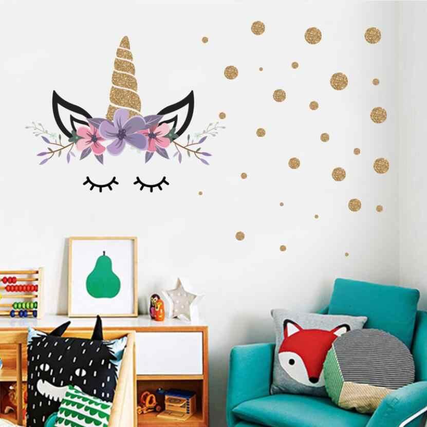 Cute Cartoon Unicorn Stickers Kids Room
