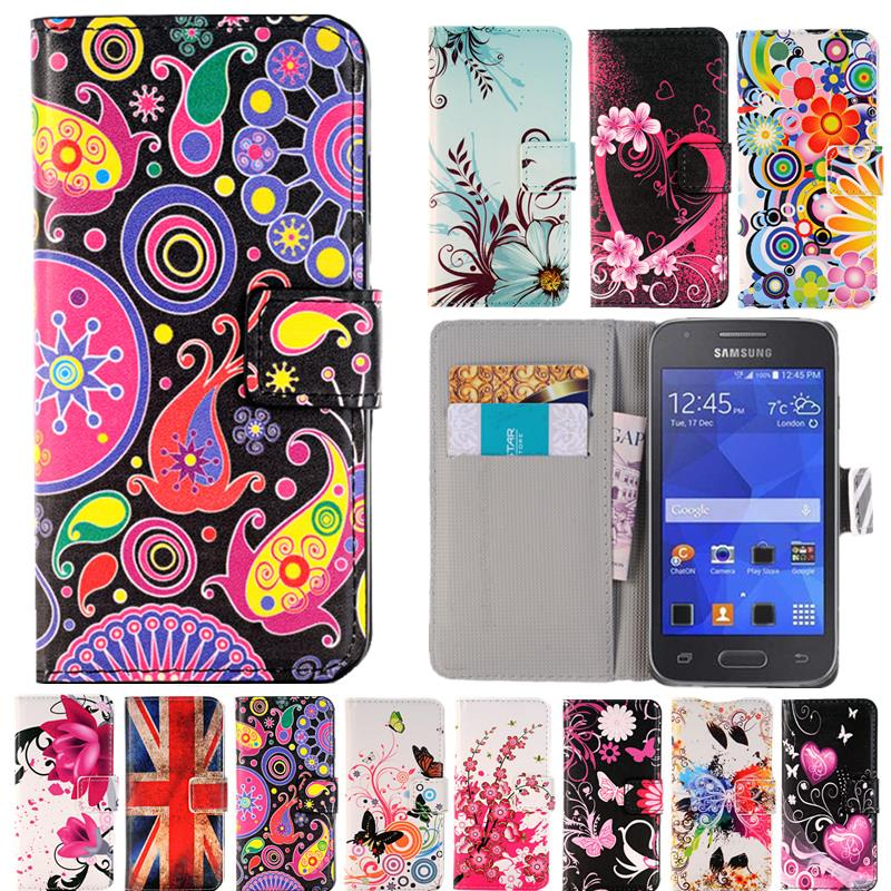 The Cheapest Price Leather Case For Samsung Galaxy Grand Prime Core 2 Luxury Wallet Stand Cover Be Novel In Design Cell Phone Accessories