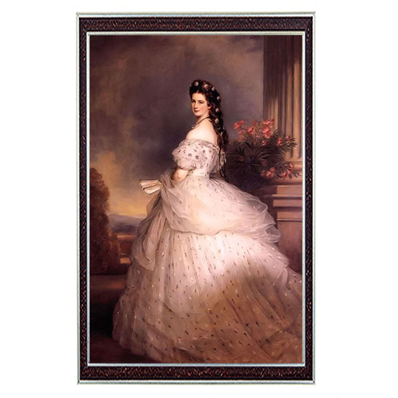 DIY 14CT unprinted embroidery Crafts Home decor French DMC Home Decor Cross Stitch Kit/Set Empress Elisabeth of Austria