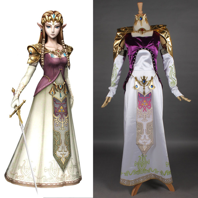 The Legend of Zelda Princess Zelda dress Carnival Costume Halloween Cosplay costumes for Women  sc 1 st  AliExpress.com & The Legend of Zelda Princess Zelda dress Carnival Costume Halloween ...