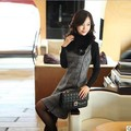 Autumn and winter dress women sleeveless pullover woolen vest casual dresses houndstooth one-piece dress free shipping