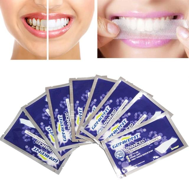 7pairs Genkent Teeth Whitening Strips Gel Care Oral Hygiene
