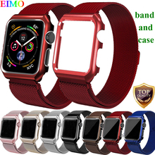 Lbiaodai Milanese Loop strap For Apple Watch 4 band 44mm 40mm iwatch 4 3/2/1 42mm 38mm Link Bracelet Wrist Belt Watchband case milanese loop band for apple watch strap 42mm 38mm iwatch 3 2 1 stainless steel link bracelet wrist watchband magnetic buckle