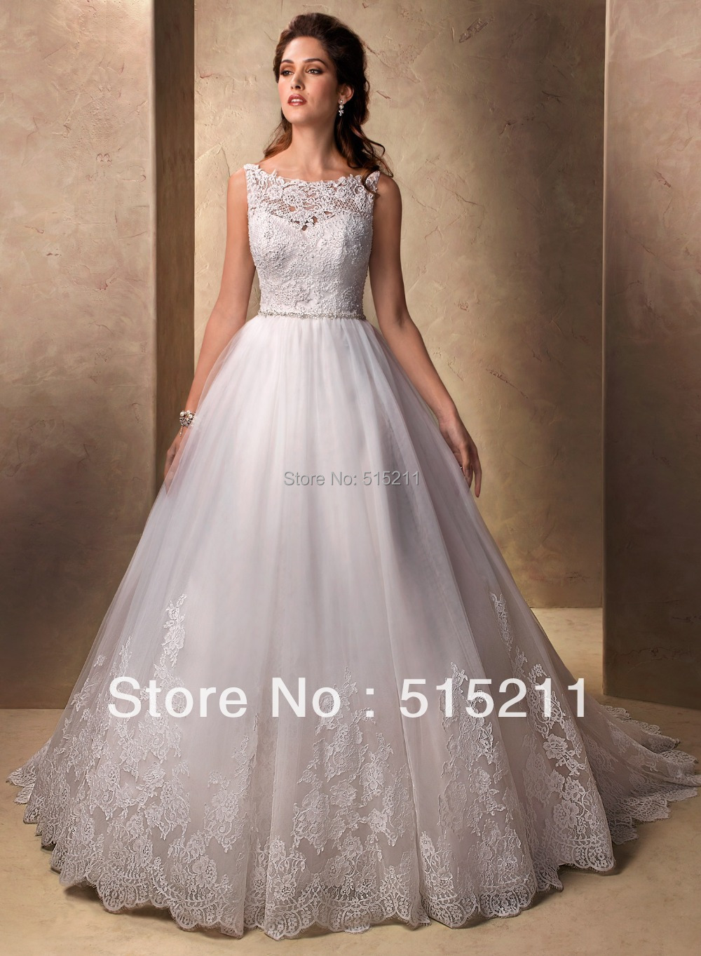 Popular victorian wedding dresses buy cheap victorian wedding - Vintage Victorian Style Scoop Neckline Lace Covered Back Princess Ball Gown Bridal Wedding Dress 2017 New
