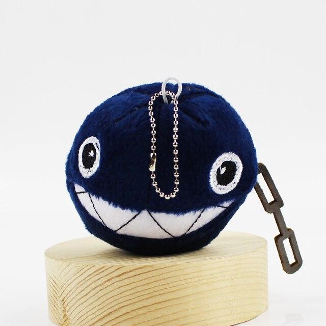8cm Super Mario Chain Chomp Plush Toy Ball Shape Shark Black Ver Stuffed  Pendant Doll Gift 766a1b7c4