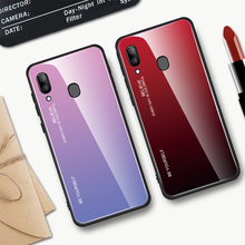 Hacrin Case For Samsung Galaxy A40 Luxury Hard TPU Gradient Tempered Glass Bumper Cover On A 40 Hoesje