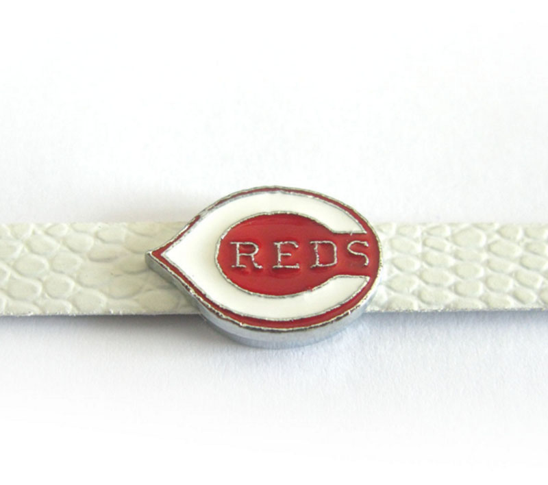 20 Pcs Baseball Slide Charms 8mm Alloy With Enamel Cincinnati Reds Slide Charms Fit Pet Collar DIY Necklace & Bracelet
