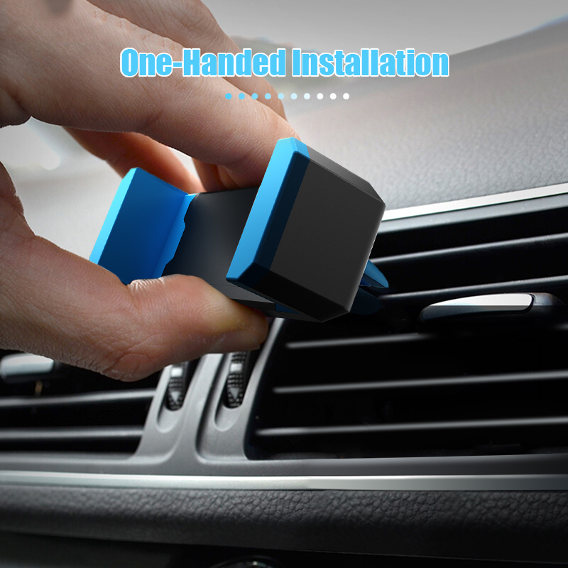 Hisomone Universal Car Phone Holder Stand Air Vent Mount Holder 360 Degreen Rotation Car Holder for Phone Support 4-6 inch