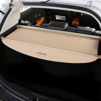 For Audi Q5 2007 2009 Rear Cargo privacy Cover Trunk Screen Security Shield shade (Black, beige)