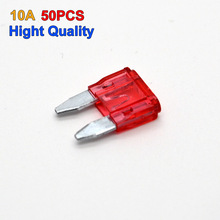 50pcs Small Type Auto Car SUV's Truck 10A Fuse Blade Free Shipping