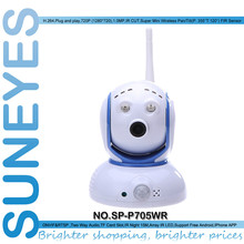 SunEyes SP-P705WR Беспроводной ИК Ip-камеры 720 P 1.0MP HD Сети CCTV Камера с Панорамирования/Наклона Вращения и Двусторонней Передачи Звука и Бесплатной P2P