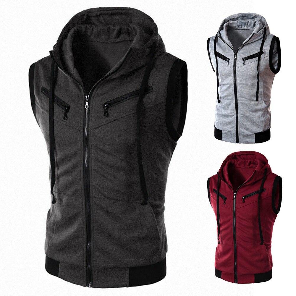 Popular Sleeveless Jackets with Hood for Men-Buy Cheap Sleeveless ...