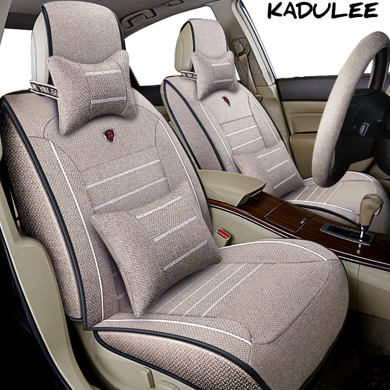 KADULEE flax car seat cover for renault symbol scenic 2 3 for seat altea cordoba ateca leon alhambra toledo Auto accessories kadulee car seat cover for mercedes cla ford focus 3 seat leon 2 nissan micra teana j32 toyota auto accessories car styling
