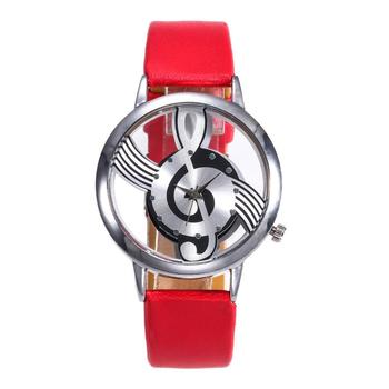 2018 Best Sell Women Watches Fashion Leather Stainless Steel Musical symbol Wristwatch Clock relogio feminino reloj mujer Saat