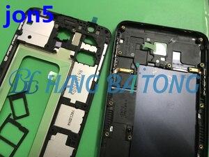 Image 5 - 삼성 j5 프라임 g570 g570f g570ds 전면 하우징 미드 프레임 플레이트 베젤 배터리 백 커버 도어 케이스 사이드 버튼