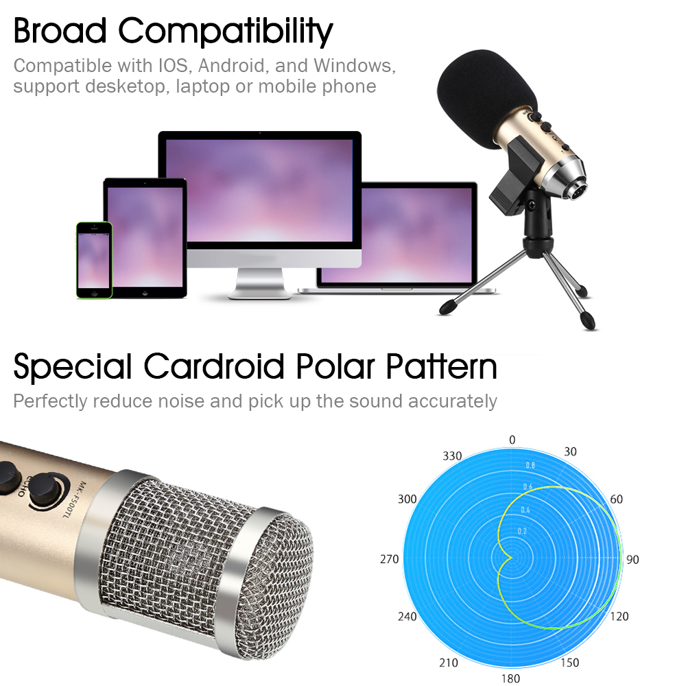 gevo mk f500fl professional microphone wired recording usb 3 5mm condenser microphones with tripod for computer karaoke laptop in microphones from consumer  [ 1000 x 1000 Pixel ]