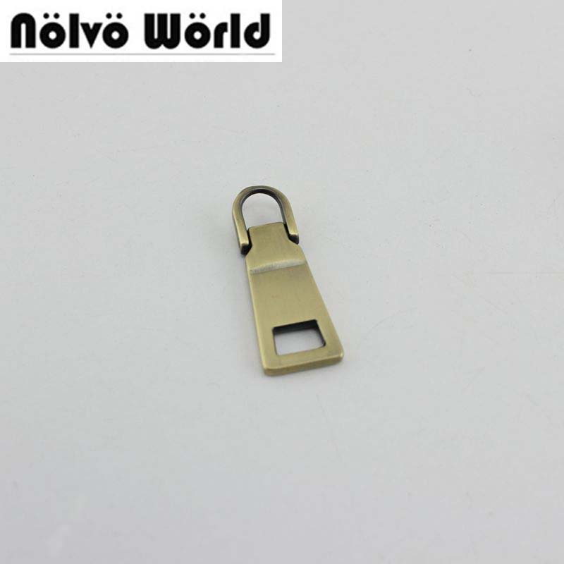 Luggage & Bags 60pcs 4colors 5# Diy Metal Head Nylon Head And Zipper Puller Slider Metal Plating Accessory For Bags,garments Fabric