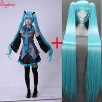 8PCS Hatsune miku costume Cosplay Hatsune Cosplay Costume Set Japanese Midi Dress Beginner Future Miku Cosplay Halloween women