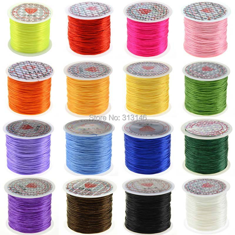 2 Rolls 10m Clear Elastic Thread Cord Jewelry Making Findings 0.7mm 0.6mm