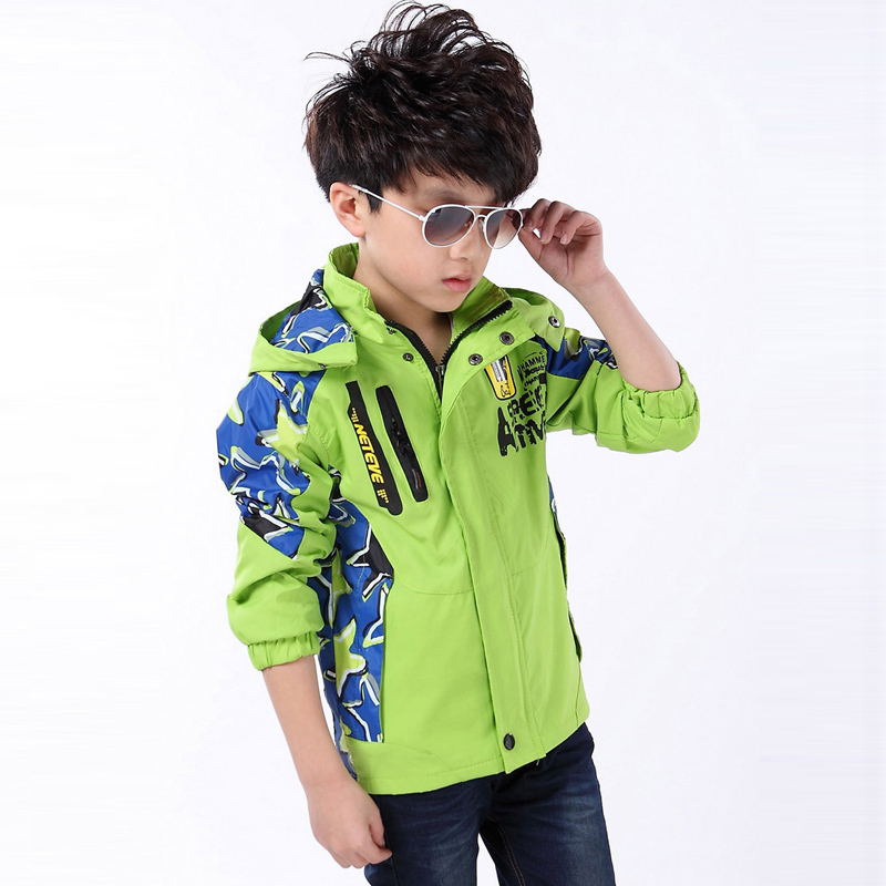 3af7b2e25 4 5 6 7 8 9 10 11 12 Year Boys Coat New Spring Hooded Outdoor ...