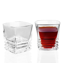 1Pcs Square Whisky Glass 100% Lead-free crystal 300ML Liqueur Cup For Spirits Drinking ePacket bal0105 100 1pcs