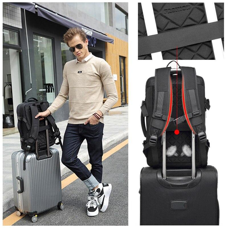 17 ''sac à dos pour ordinateur portable sac de voyage femmes hommes étanche 30L grand sac à dos extérieur Anti-vol mâle femelle extérieur 15.6 retour emballage - 4
