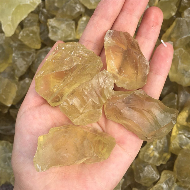 Natural Citrine Stone Yellow Quartz Crystal Rough Bulk Gemstone Healing Natural Stones Minerals specimen