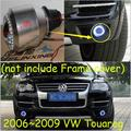 Car-styling, luz antiniebla Touareg, 2006 ~ 2009, chrome, Libera la nave! 2 unids, Touareg luz principal, coche cubiertas, Halógeno/HID + Lastre; Touareg