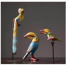 TV Cabinet Living Room Figurine Wine Cupboards Decorations Creative Porch Home Tropical Rain Forest Bird Ornaments