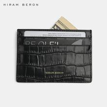 Hiram Beron spersonalizowane etui na karty kredytowe ze skóry naturalnej wzór krokodyla niewielki portfel etui na karty prezent ślubny tanie tanio PRAWDZIWA SKÓRA Skóra bydlęca CN (pochodzenie) ALLIGATOR 7 3cm KD7006 10 3cm Id posiadacze kart Bez suwaka Biznes KARTA KREDYTOWA