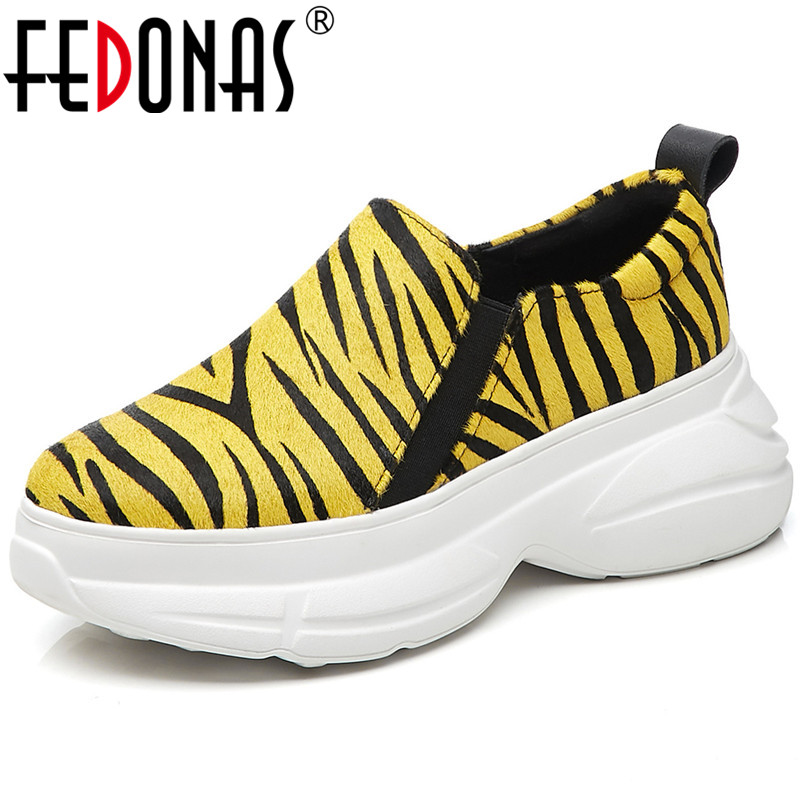 FEDONAS New Arrival Women Flats Platforms Slip On Casual Shoes Woman Horsehair Spring Autumn Flats Shoes High Quality Flats